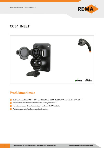 Datenblatt CCS 1 Inlet