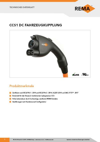 Datenblatt CCS 1 Fahrzeugkupplung