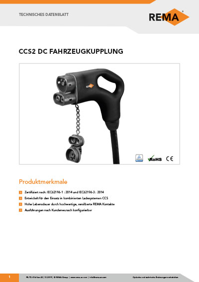 Datenblatt CCS 2 Fahrzeugkupplung